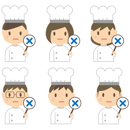 incorrect: 6 chefs incorrect There were Illustration