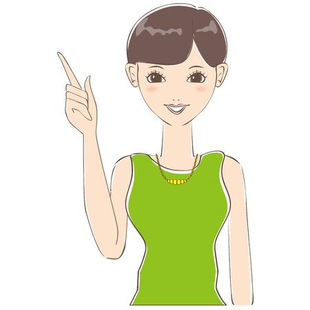 cabello corto: El pelo corto de la mujer linda se describe