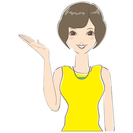 introduce: Bob hair of cute woman to introduce