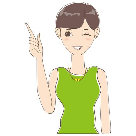 cabello corto: La mujer de pelo corto me ha explicado que el gui�o