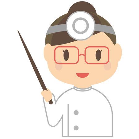 has: Dentist of cute women has to presentation Illustration