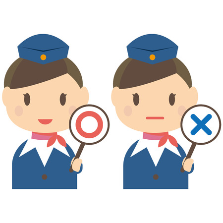 incorrect: Cute cabin crew correct and incorrect answers