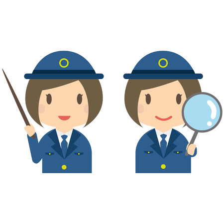 Pose of expanding the commentary of female police officers