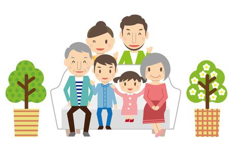 Cute 3 Generation Family Part 2 Sofa Living