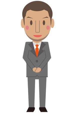 cram: Cute African male gray suit businessman short hair greet