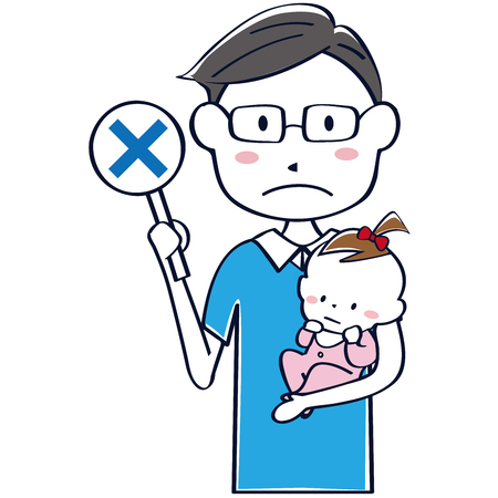 Ikemephpa uncle holding a child Uncle upper body x Illustration