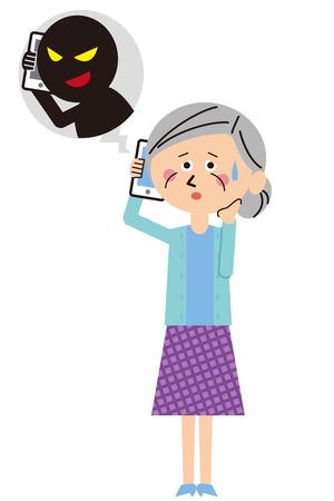 la fraude grand-mère de la famille Pop Téléphone
