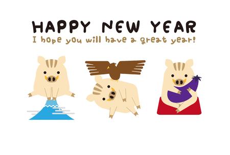 Japan's auspicious first-cut new year's card 2019