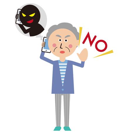 A senior man says refusing to say