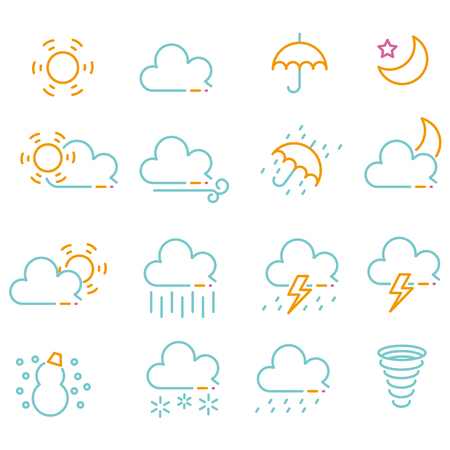 color line drawing weather icon