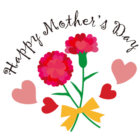 Happy Mother's Day Heart Carnation