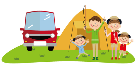family camp and car