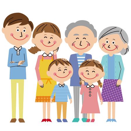 3 generation family whole body family Stok Fotoğraf - 119202267