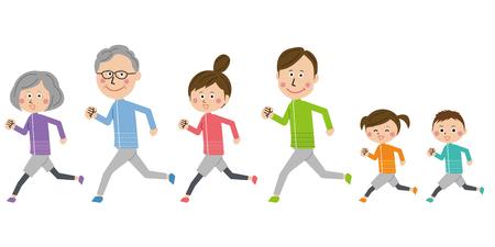 A 3 generation family running