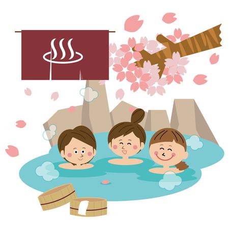 Women's Association Women s Bath Open-air Bath Three Women