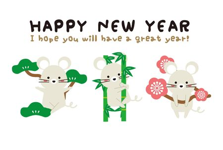 New Years Card 2020 Mouse New Years Card Shochikuume 3