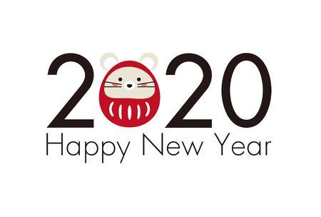 Mouses Daruma and 2020