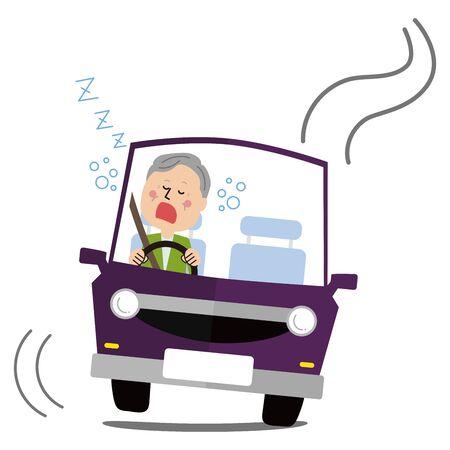 Dangerous driving Dozing Driving Vettoriali