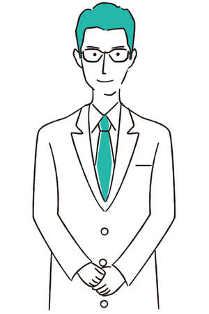 Hand-painted 1color Doctor/Pharmacist Online Greetings Glasses Men Twink Stockfoto - 158939367