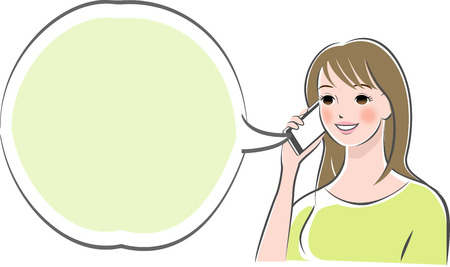 Vrouw telefoneert met smartphone