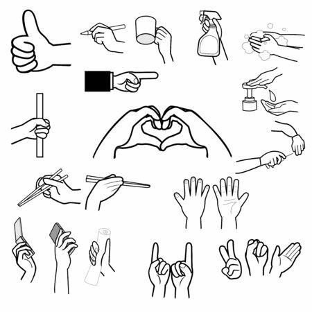 Hand sign, finger sign Standard-Bild - 136943088