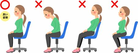 Good and bad ways to sit Vettoriali