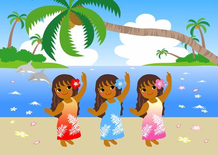 The Woman Dancing hula dance