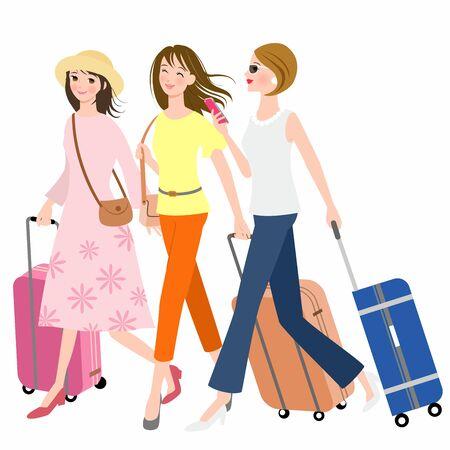 Three Women On A Trip