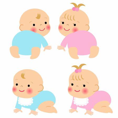 baby boy and girl