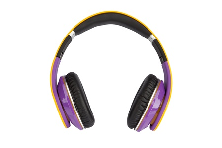Headphones on white background photo