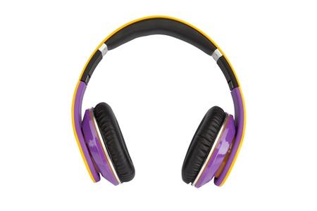 Headphones on white background Stock Photo - 17314493