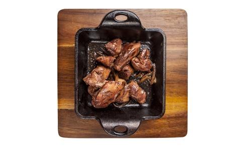 Roasted goose liver photo