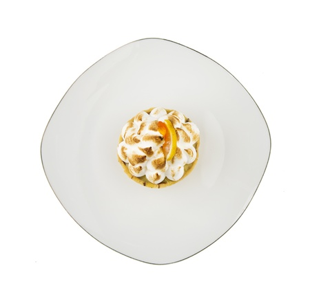 cream cake: closeup of lemon and cream cake