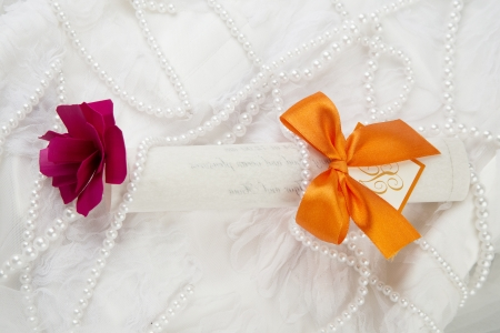 Wedding invitation card  photo