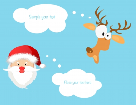 Greeting Christmas and New Year card background Vector