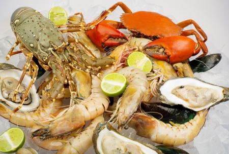 魚介類の地中海のシーフード