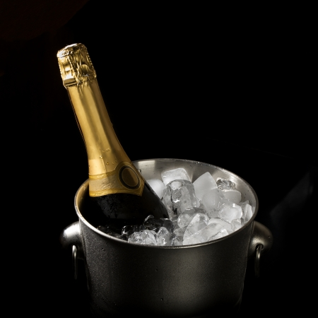 gold capped: Champagne bucket