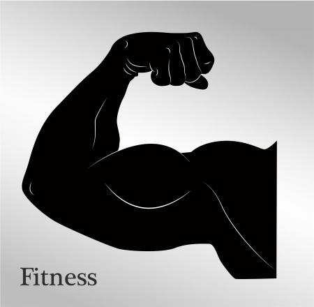 arm muskeln: Cartoon Bizeps Mann den Arm Muskeln Illustration