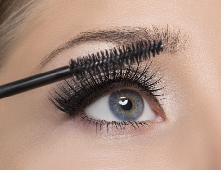 Maquillage Make-up Application cils Mascara longues Banque d'images - 24948942