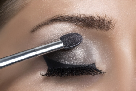 Makeup  Make-up  Eyeshadows  Eye shadow brush Banque d'images