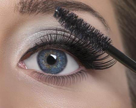 falso: Maquillaje Maquillaje La aplicaci�n de pesta�as Mascara Long