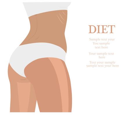 flexible girl: Fitness girl label - vector illustration