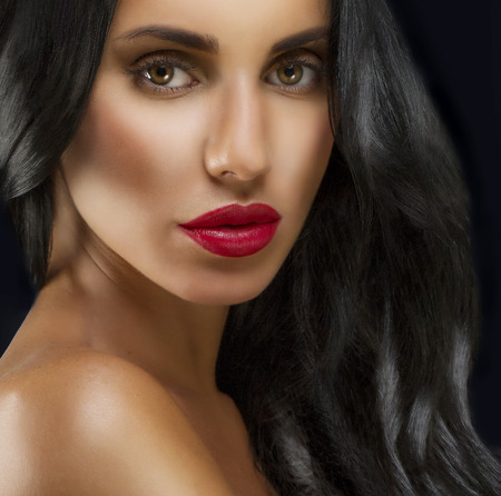 Beauty Woman With Long Black Hair photo