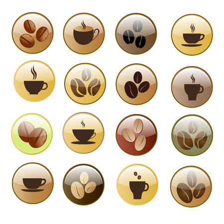 Coffee cup and Tea cup icon set Illustration  Vector