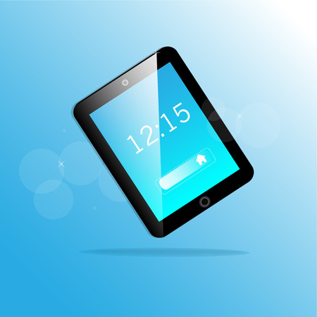 e reader: Vector tablet computer and mobile phone icons Illustration