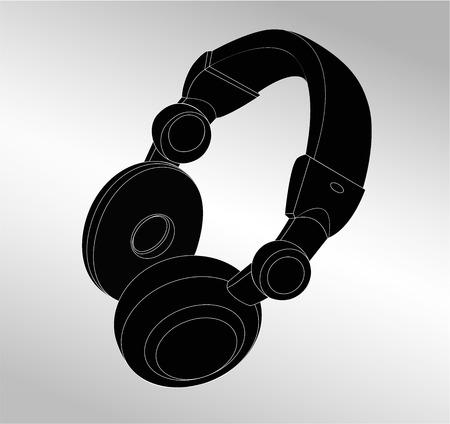 Music headphone icon isolated vector illustration Illustration