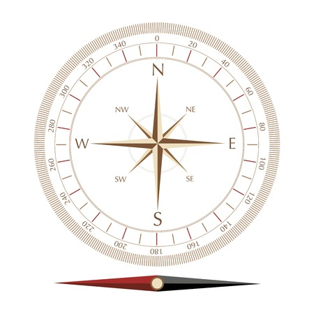 compass rose: compass rose isolated on white background vector illustration Illustration