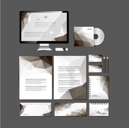 workspace: Set of flat design concept icons for workspace Illustration