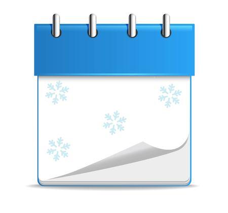 advent calendar: Vector colorful christmas advent calendar list with santa Illustration