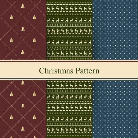 festive pattern: Set of seamless christmas patterns